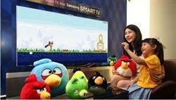 Angry Birds se controla con gestos en las Smart TV de Samsung http://www.europapress.es/portaltic/videojuegos/noticia-angry-birds-controla-gestos-smart-tv-samsung-20120713083006.html