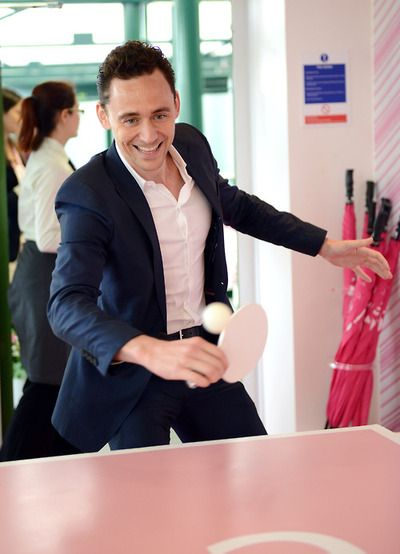 Tom Hiddleston attends the Evian Suite on Day 8 of the Wimbledon Lawn Tennis Championships at the All England Lawn Tennis and Croquet Club at Wimbledon on July 2, 2013 in London, England [HQ]