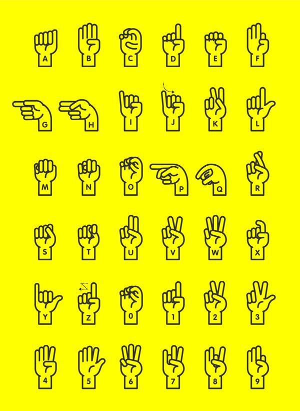 Sign Language Alphabet on Typography Served