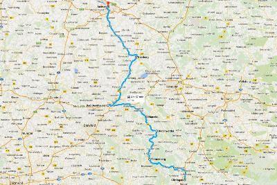 Viaggio on the road in Germania - Mappa da Göttingen