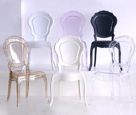 Calidad al por mayor de plástico princesa boda silla de comedor silla de plástico castillo
