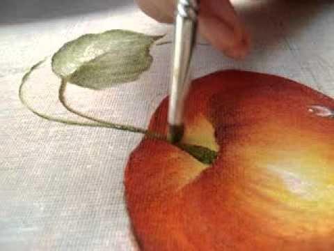 Pintura em tecido Eliane Nascimento: Como eu pinto maçãs - Parte 4 (acab...