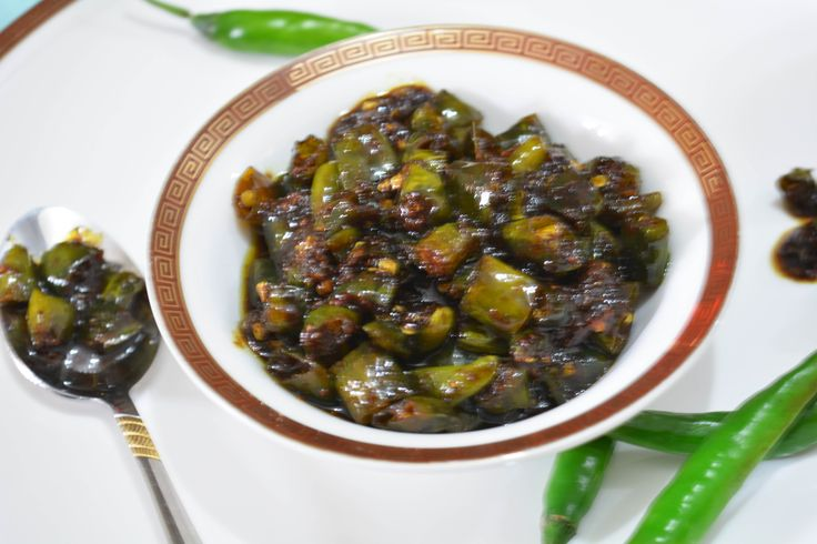Sweet, Sour & Spicy Green Chili Pickle/How to make Khatta- meetha mirch ka achar sweet, sour n spicy.....all in one go. enjoy this pickle with paratha of your choice #pickle #indian #achar #easyrecipe Recipe at: www.annapurnaz.in