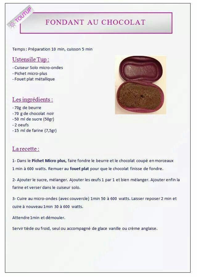 Fondant au chocolat - Tupperware