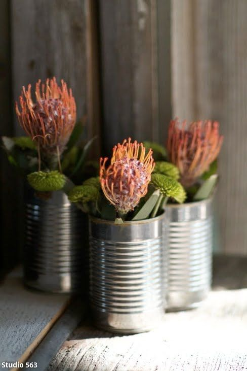 vintage+rustic+centerpiece+with+protea.jpg (488×731)