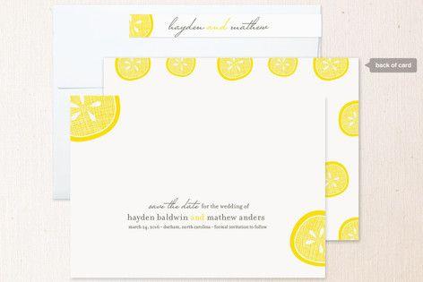 Lemon Drop Save the Date Cards