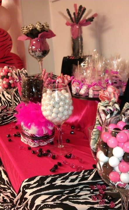 Candy and cute Diva Baby Shower
