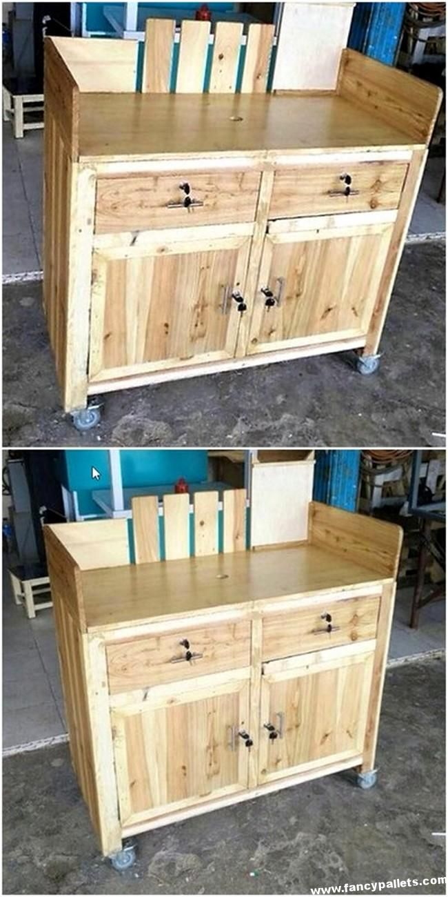 Fancy Pallets Cabinet Counter Wood Pallet Projects Pallet