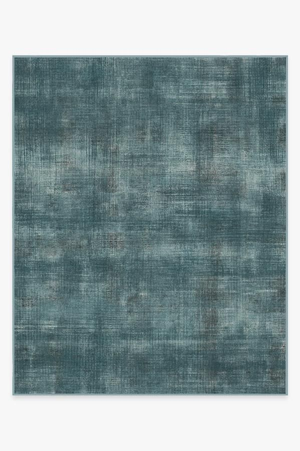 Ruggable Washable Rug Cover Pad Sudaria Solid Teal Blue Rug Stain Resistant Ruggable 8 X10 In 2020 Washable Rugs Rugs Teal Blue