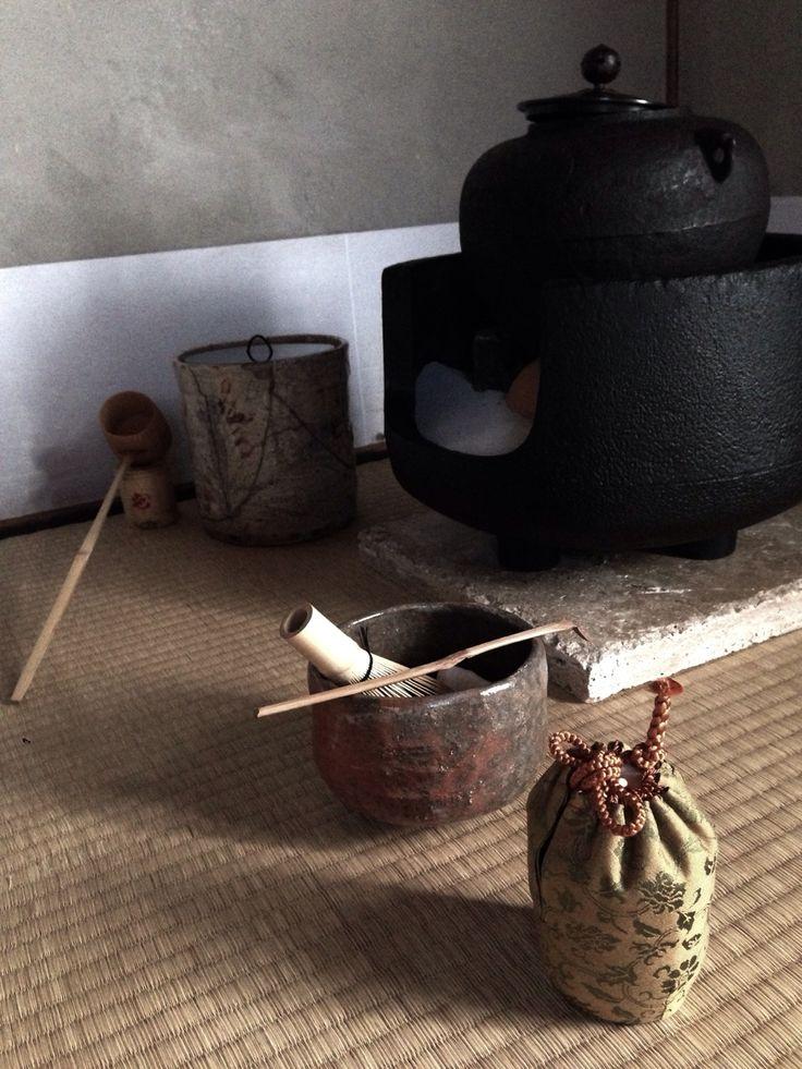 Chanoyu 茶の湯 The Urasenke Tradition of Tea USA Nakaoki - middle placement of heater in autumn