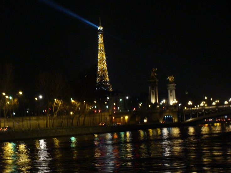 Eiffel Tower Dinner and Seine River Cruise (pick-up & drop-off by Minivan) - $243