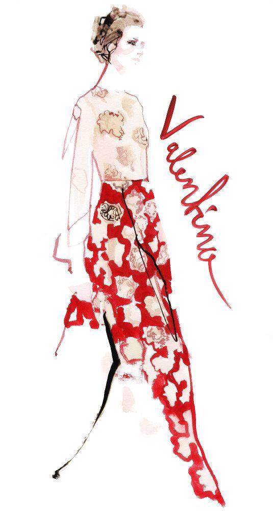 Valentino, Evening Standard, 'Paris Couture' -- David Downton