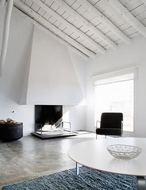Polished Concrete Floor In A Living Room Residence Of La Mancha By Benjamin Cano