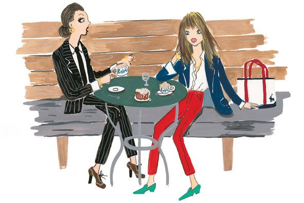 Fashion and coffee. 2 of my favorite things Sketch by konstantin Kakanias