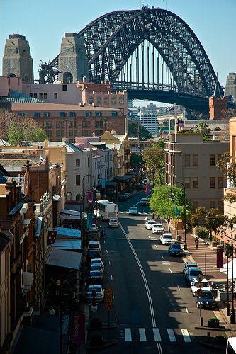 Sydney Harbor Bridge.