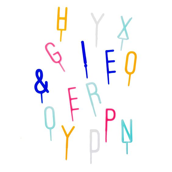 Hippenings 'Say Anything' Alphabet Cake Topper - write any message on your birthday or wedding cake!