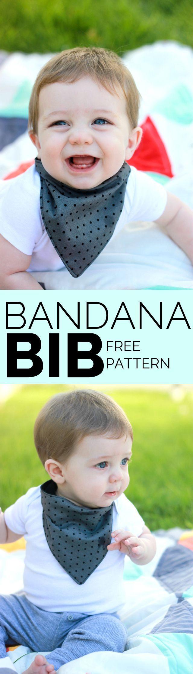FREE bandana bib pattern! | bandana bib tutorial | how to make a bandana bib | diy baby bib | baby bib tutorial | baby sewing tutorials | sewing tips and tricks | diy baby gifts || see kate sew #diybib #babybib #sewingtutorials