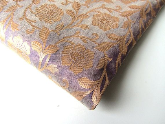 love this color!  brocade silk India purple lavender gold flower  by SilksByUmf, $15.00