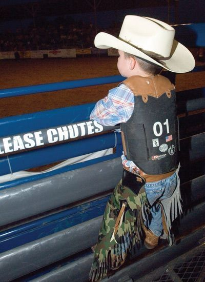 Reminds me of my boys when they were little. They used to wear chaps and cowboy hats. To Cute!!!!!