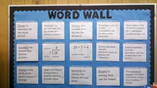 Fern Smith's Classroom Ideas: Math and Science Word Wall