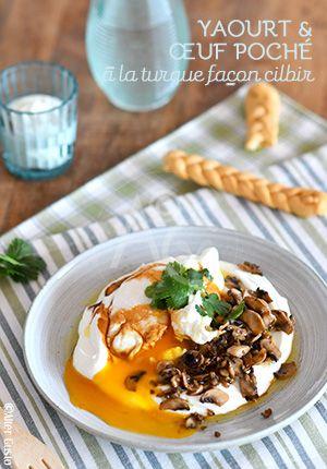 Yaourt & œuf poché à la turque façon cilbir -