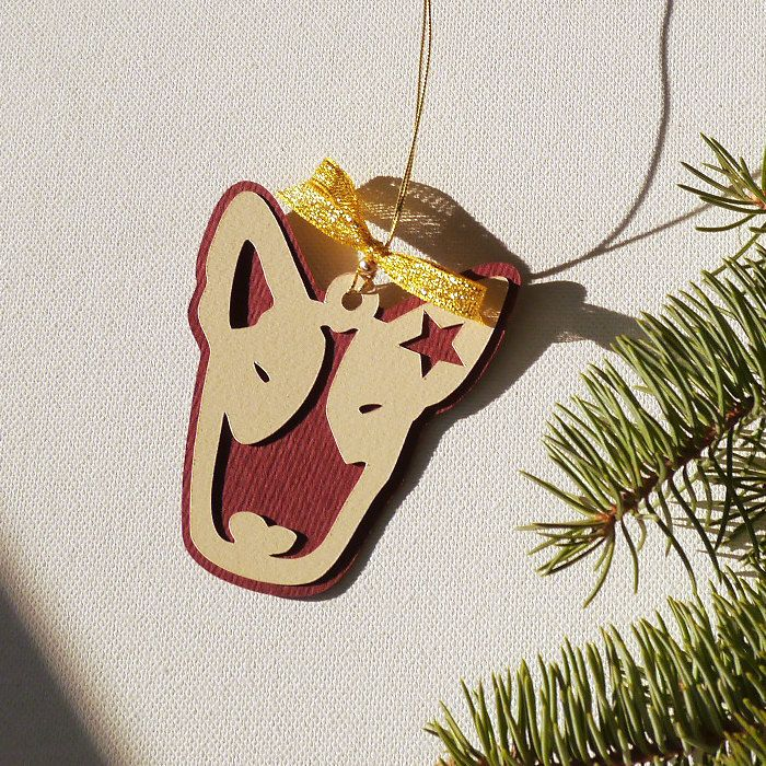 Bull Terrier Christmas tree decoration by PSIAKREW on Etsy