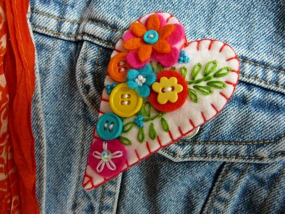 Felt brooch made by gretchent