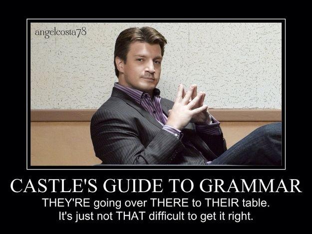 7 Helpful Grammar Tips From Richard Castle