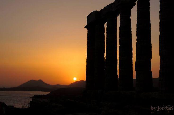 #sounio #temple #posidon #greece #sunset