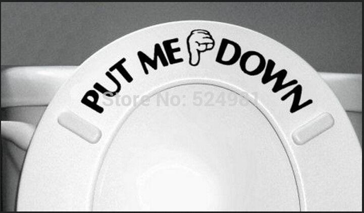 ücretsiz kargo beni indirdi banyo tuvalet sticker koltuk işareti hatırlatma teklif kelime yazı sanat vinil sticker