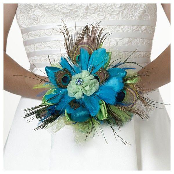 Questo meraviglioso bouquet è un alternativa originale ed elegante al classico bouquet  di fiori: realizzato con colorate piume   ed arricchito da una gemma   Disponibili tutti gli accessori della stessa seria