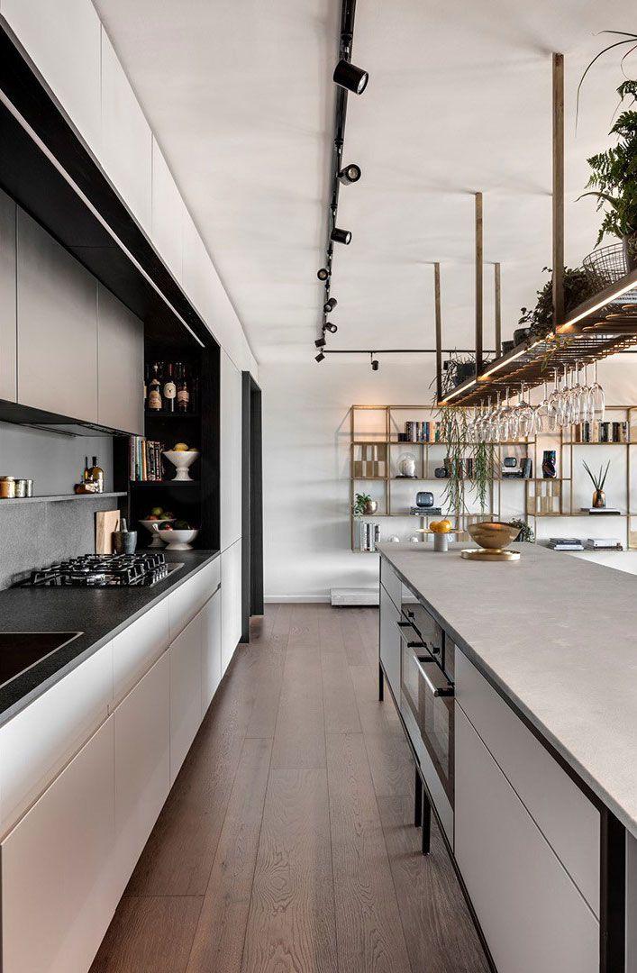Modern Open Apartment In Tel Aviv Industrial Style Kitchen
