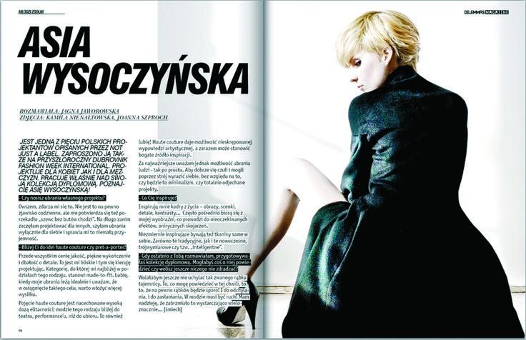 interview for Dilemmas Magazine