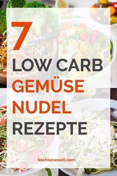 Gemüsenudeln: 7 schnelle Rezepte für Low Carb Nudelglück. Alles, was ihr dafür braucht ist euer liebstes Gemüse und einen Spiralschneider. Leicht und lecker - Kochkarussell.com