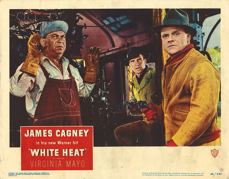 Lobby card from the film white heat james cagney heat