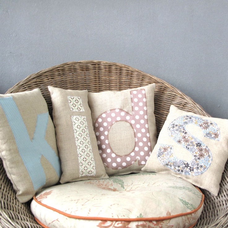 claradeparis.com ♥ these Letters cushions -