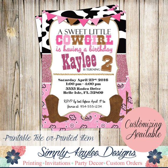 Cowgirl first birthday invitations gallery coloring pages adult 68 best cowgirl birthday party ideas images on pinterest birthday filmwisefo