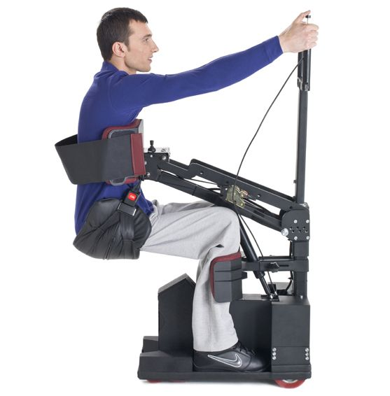 AMAZING! The Tek Robotic Mobilization Device (or RMD) allows the disabled to stand from a sitting position and balance on their feet with minimal effort using robotic harness #technology.