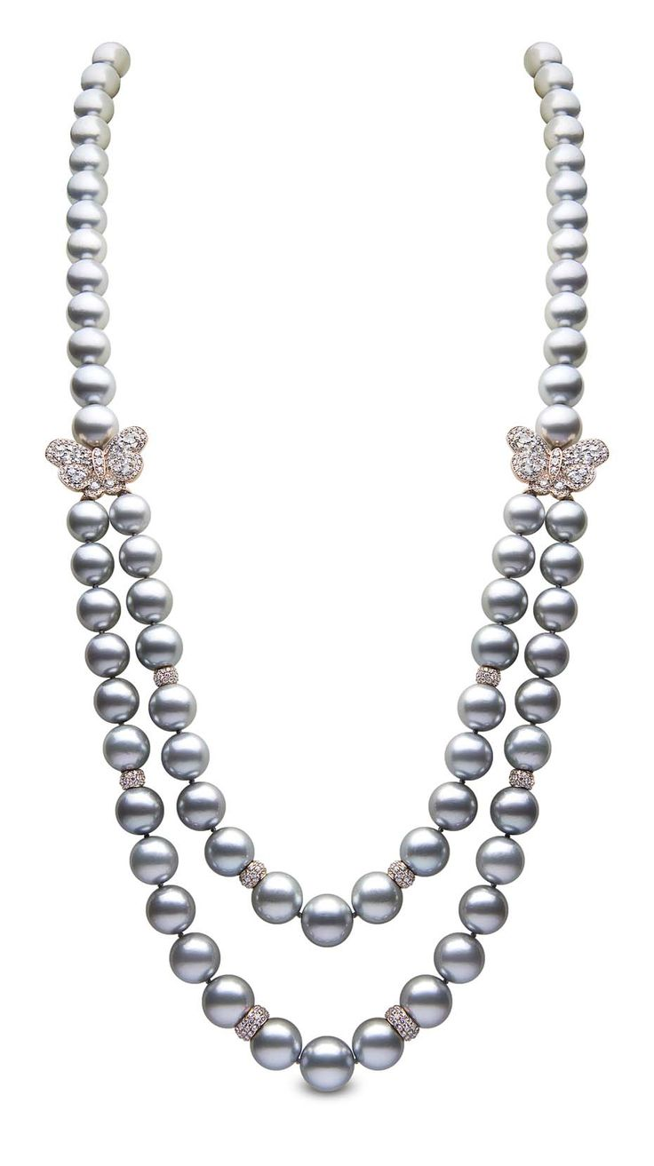 The Most Decadent Of Necklaces  @yokolondon Double Strand #pearlnecklace  In #rosegold,