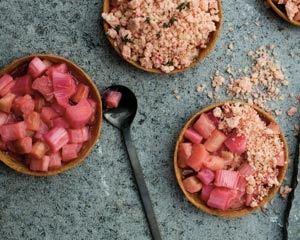Rhubarb Crumble Tarts.