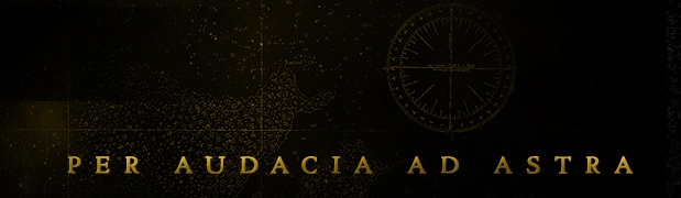 """Per Audacia Ad Astra - latin for """"Through Boldness to the Stars"""""""
