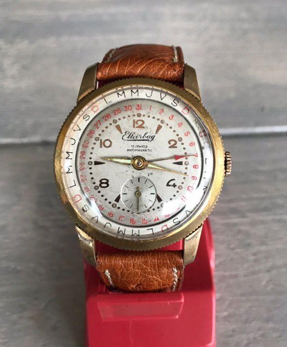 59f3031f8164 Nu in de  Catawiki veilingen  Elleirbag - Calendar watch - Heren -  1950-1959