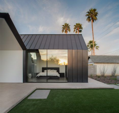 Chen   Suchart creates a gabled addition clad in metal for an historic Arizona home  ~ Great pin! For Oahu architectural design visit http://ownerbuiltdesign.com