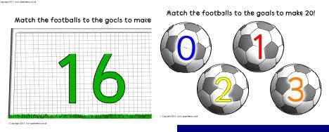 Number bond footballs and goals extension set (SB263) - SparkleBox