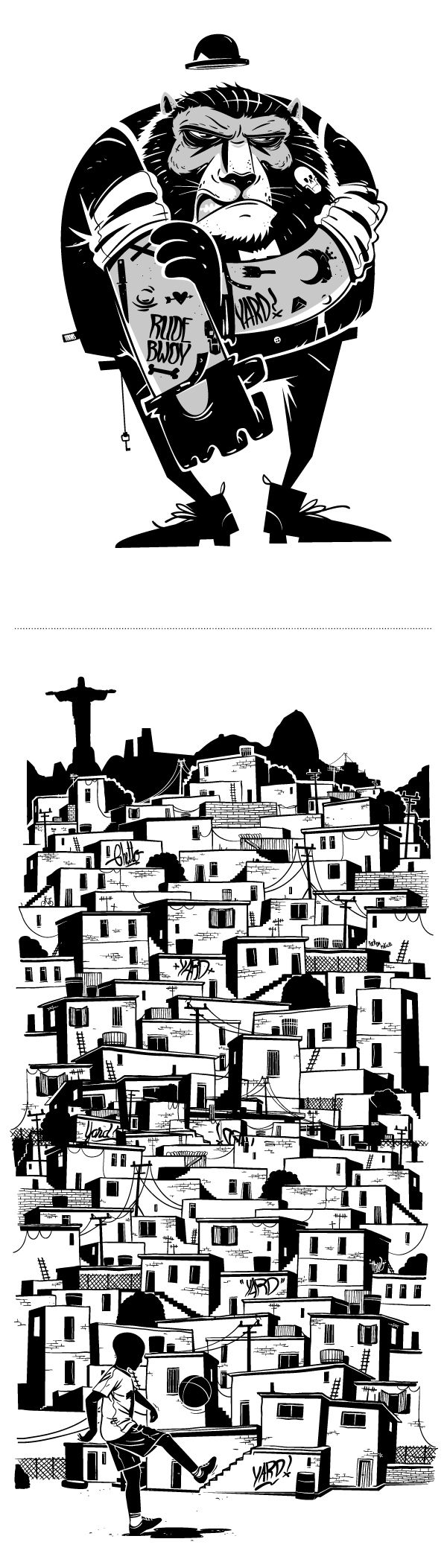 HRVB illustration on Behance. Blinds me with his imagination! #illustration #artist #portfolio