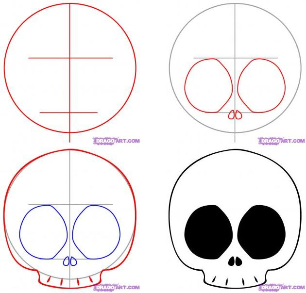How to Draw a Chibi Skull