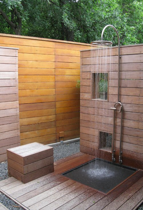outdoor shower via wav