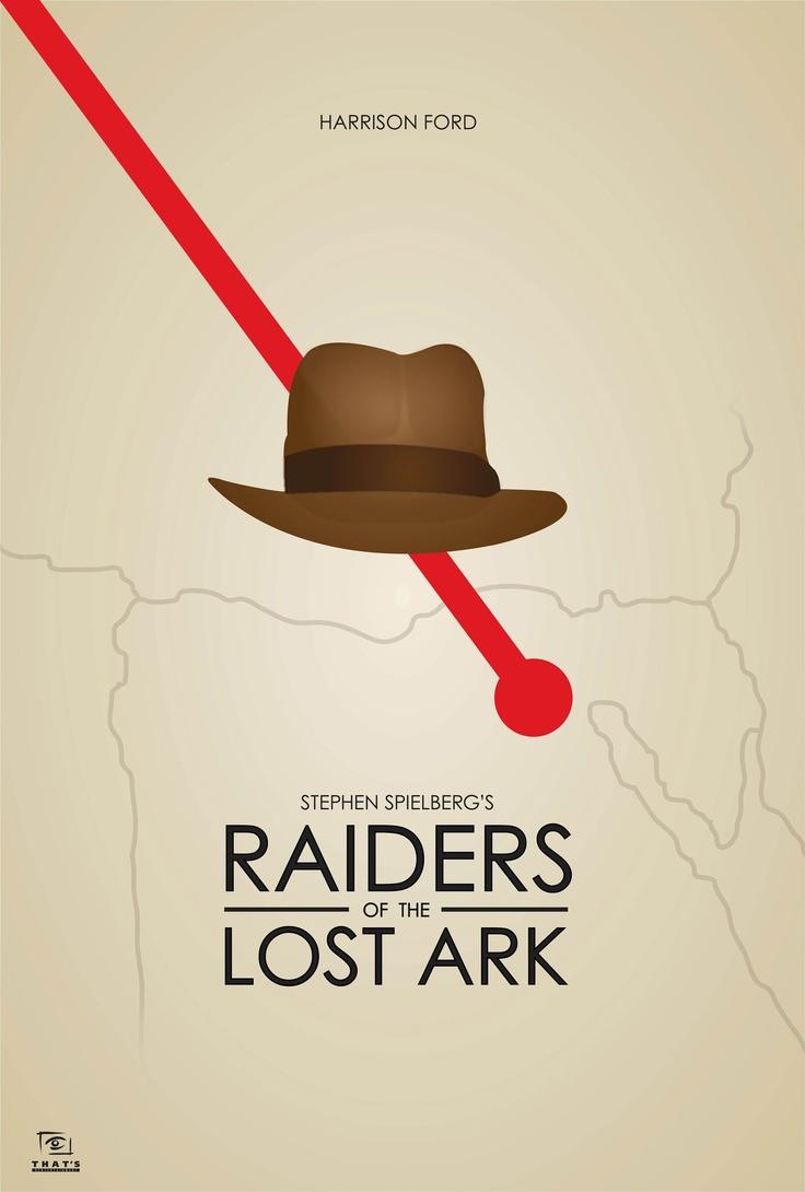 minimalist poster: Raiders of the Lost Ark  designer: scott sheltra