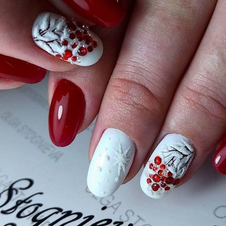представлены рябина в снегу рисунки на ногтях фото основном невесты