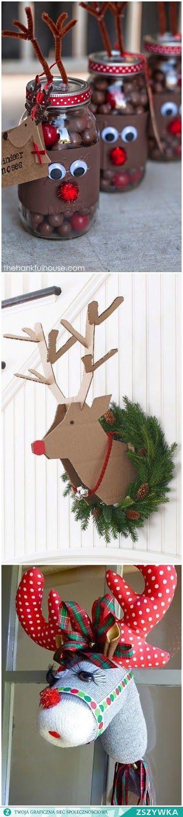 Moje pasje...: Inspiracje świąteczne cz.2 - dekoracje DIY